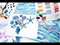 The process of creation watercolour patterns for Ksenia Knyazeva collection