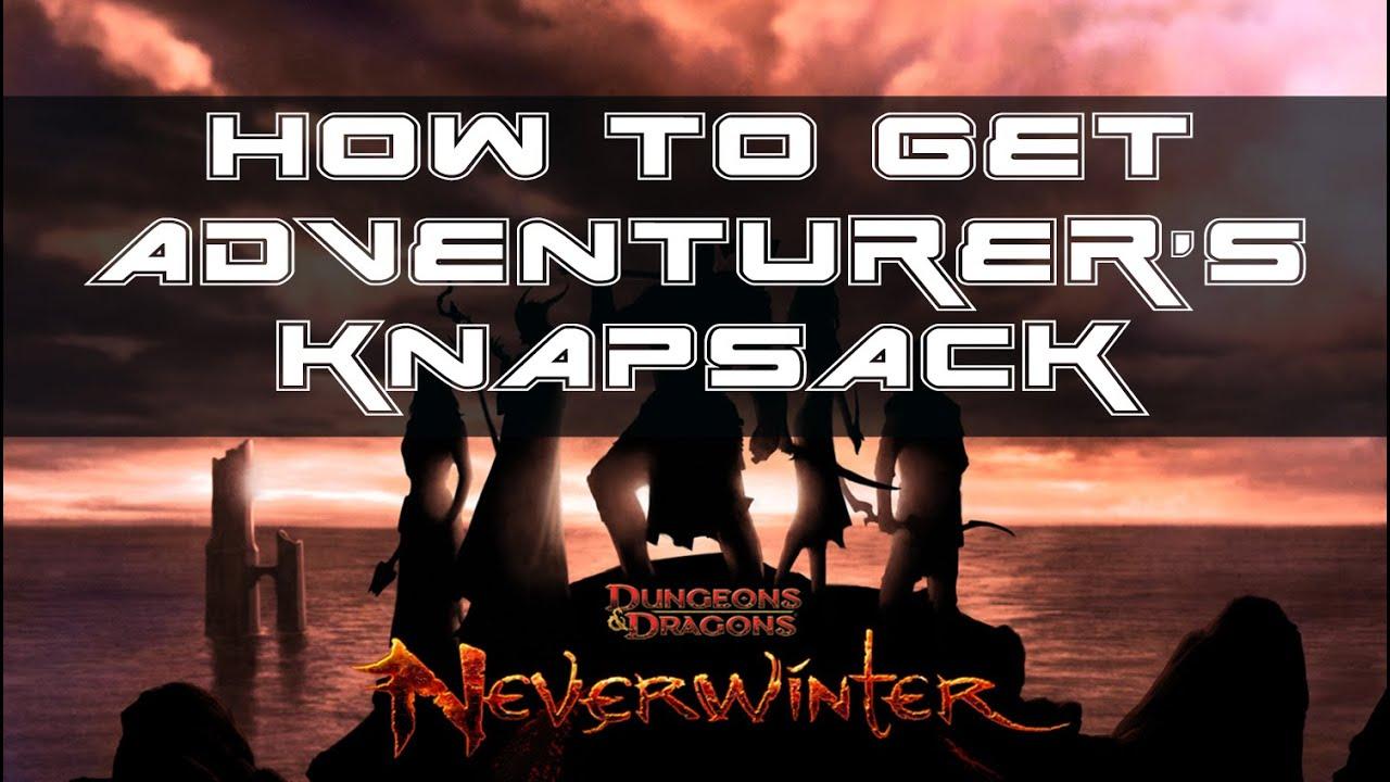 adventurer s pack neverwinter