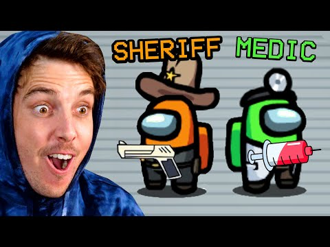 AMONG US with NEW ROLES - LazarBeam