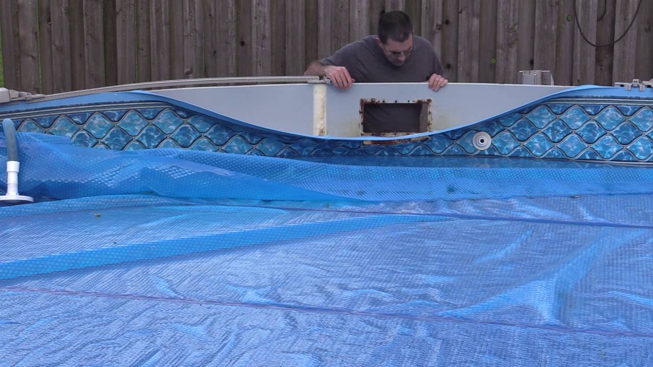 Pool skimmer hole repair youtube How to fix a swimming pool leak