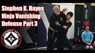 Grand Master Stephen K Hayes Ninja Vanishing Defense Part 3