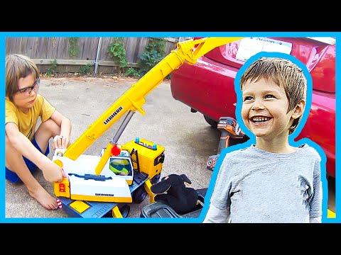 Toy Crane Truck Surprise
