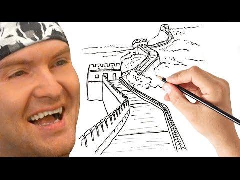 ВЕЛИКАЯ КИТАЙСКАЯ СТЕНА ИЗ ХЛЕБНОГО МЯКИША ► Quick, Draw! |20|