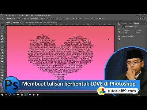 Cara Membuat Tulisan Berbentuk Love Di Photoshop