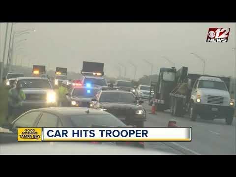 Car hits FHP trooper on I-95
