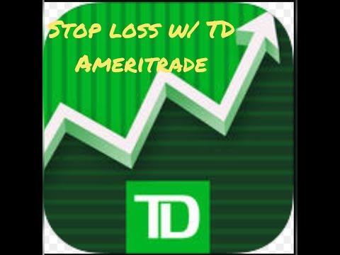 Stop loss w/ TD Ameritrade App (3 min)