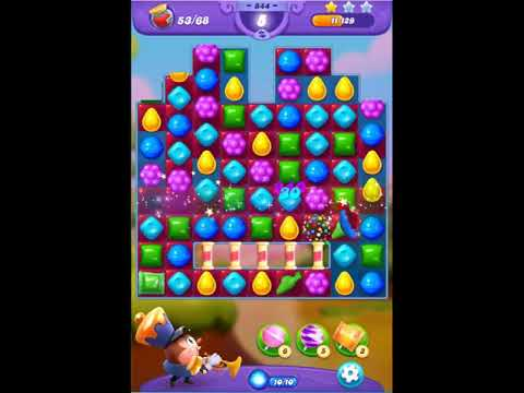 Candy Crush Friends Saga Level 844 - NO BOOSTERS 👩‍👧‍👦 | SKILLGAMING ✔️