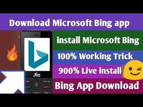 Jio Phone॥ Microsoft Bing App Download॥Use On Bing Application In Jio Phone॥ Install Bing App