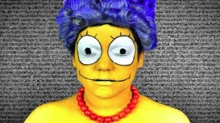 MARGE SIMPSON MAKEUP TUTORIAL!