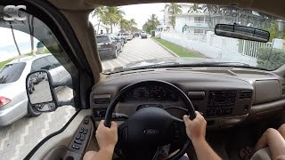 Ford F-250 Super Duty 6.0 PowerStroke V8 Diesel (2003) - POV City Drive Florida, USA