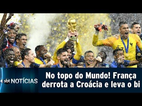 França vence a Croácia por 4 a 2 e é bicampeã mundial | SBT Notícias (16/07/18)