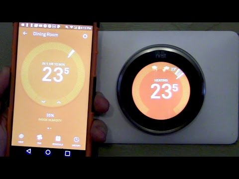 Nest Learning Thermostat (3rd Generation) Live Demo