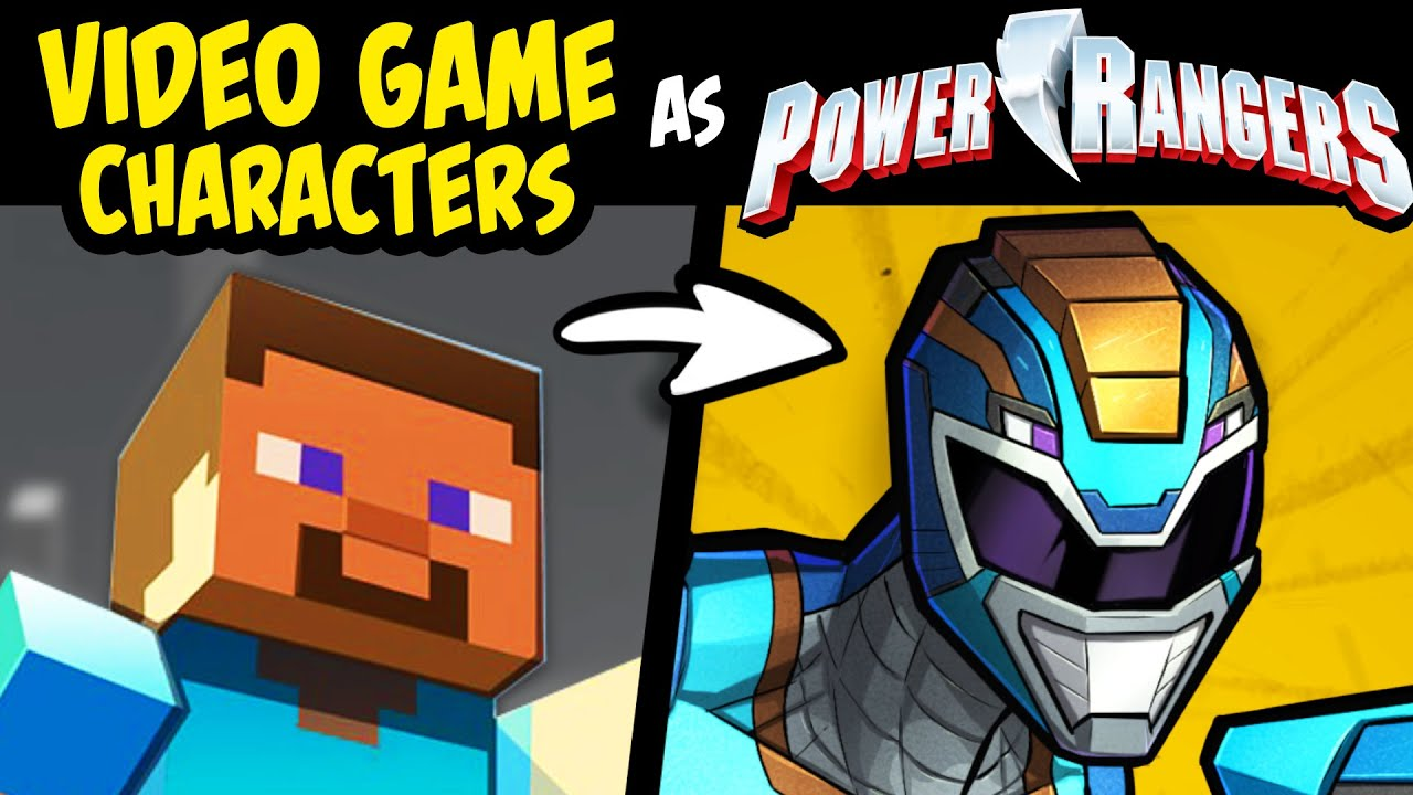 Download What if FAMOUS VIDEO GAME CHARACTERS Were POWER RANGERS?! (Story & Speedpaint)
