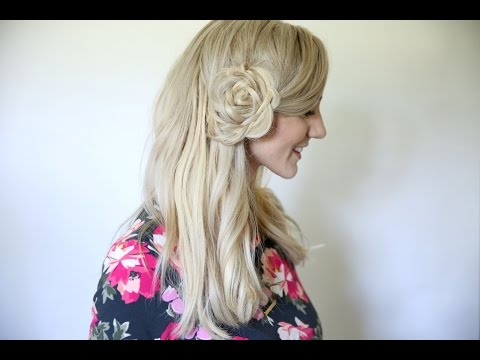 Flower Braid Bun | Back to School Hairstyles | Cute Girls Hairstyles