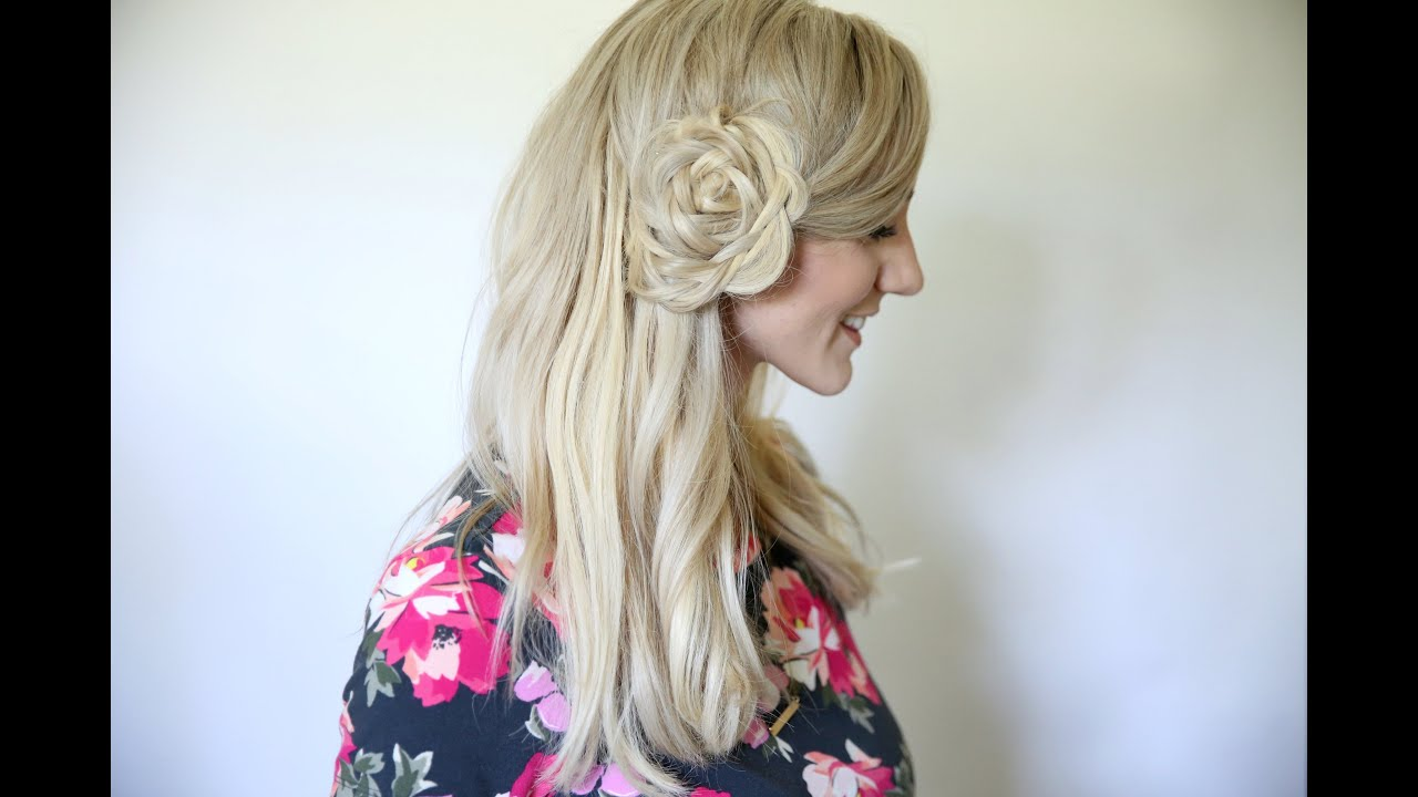 Flower Braid Bun | Back to School Hairstyles | Cute Girls Hairstyles ...
