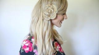 Flower Braid Bun | Back to School Hairstyles | Cute Girls Hairstyles