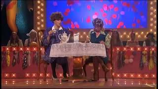 Susanne Hasenstab & Tanja Bandhauer als Die Milchtüte bei der hessischen Weiberfastnacht 2013
