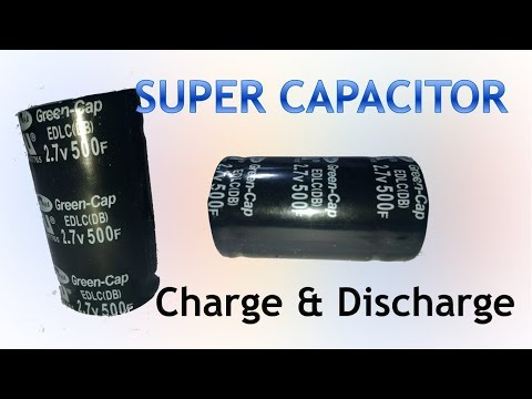 Super capacitor 500F 2 7V Charge and Discharge Testing - YouTube