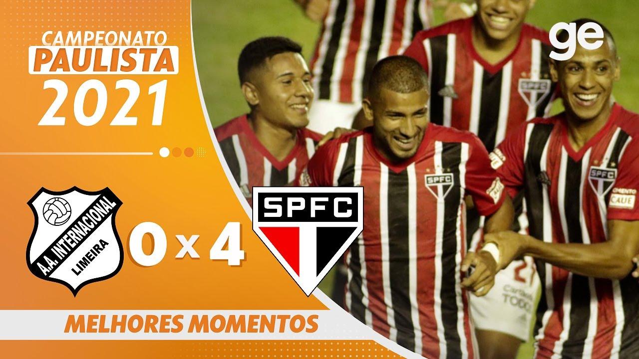 Inter De Limeira 0 X 4 Sao Paulo Melhores Momentos 2ª Rodada Paulista 2021 Ge Globo Youtube