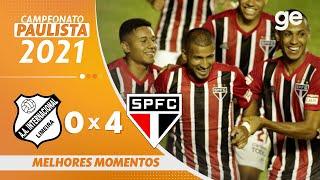 INTER DE LIMEIRA 0 X 4 SÃO PAULO | MELHORES MOMENTOS | 2ª RODADA PAULISTA 2021 | ge.globo