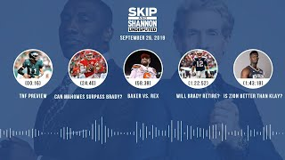 UNDISPUTED Audio Podcast (9.26.19) with Skip Bayless, Shannon Sharpe & Jenny Taft | UNDISPUTED