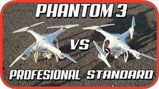Comparativa dji phantom 3 standard vs dji phantom 3 profesional, diferencias en español