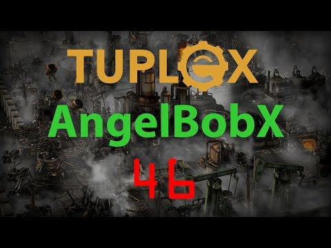 Factorio AngelBobX Let's Play #46 - Saphirite crystal sorting