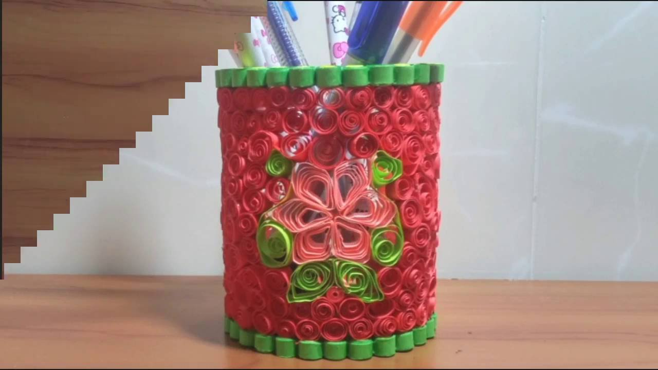 Easy and Quick DIY How to make Pen or Pencil Holder Design with Color Paper  Beautiful New Style - YouTube