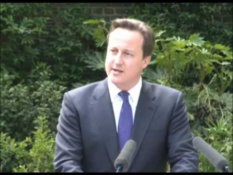 David Cameron and Nick Clegg's first press conference - 12/05/2010