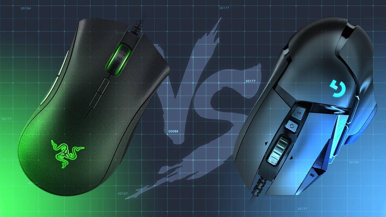 So sánh chuột gaming Razer Deathadder Elite và Logitech G502 Hero | GEARVN
