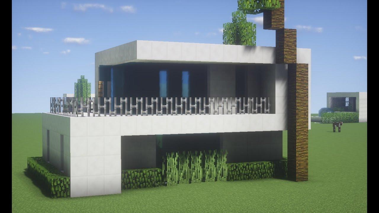 Minecraft tutorial casa moderna simples e pequena youtube for Casa moderna facil minecraft tutorial