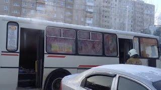 В уфимском микрорайоне Сипайлово загорелся автобус