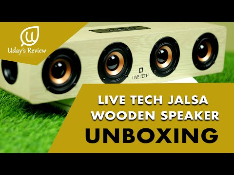 Live Tech Jalsa Wireless Wooden Speaker with Powerful Sound BS02 - English | #Unboxing | #Review