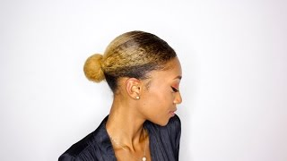 Low Bun Style for Natural Hair