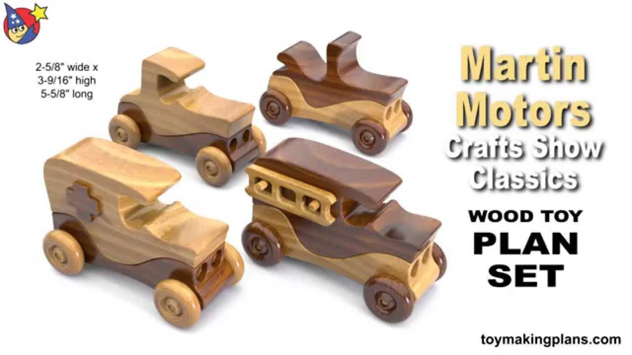 Wood Toy Plans - Martin Motors Crafts Show Classic Cars - YouTube