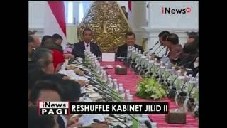 Usai dilantik, para Menteri baru hasil reshuffle langsung hadiri sidang kabinet - iNews Pagi 28/07