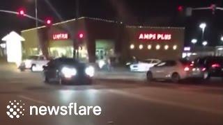 Two Mustangs crash at car show