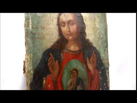 Икона для беременных! Старинная деревянная икона Богородицы Вспоможение в родах DR0228.