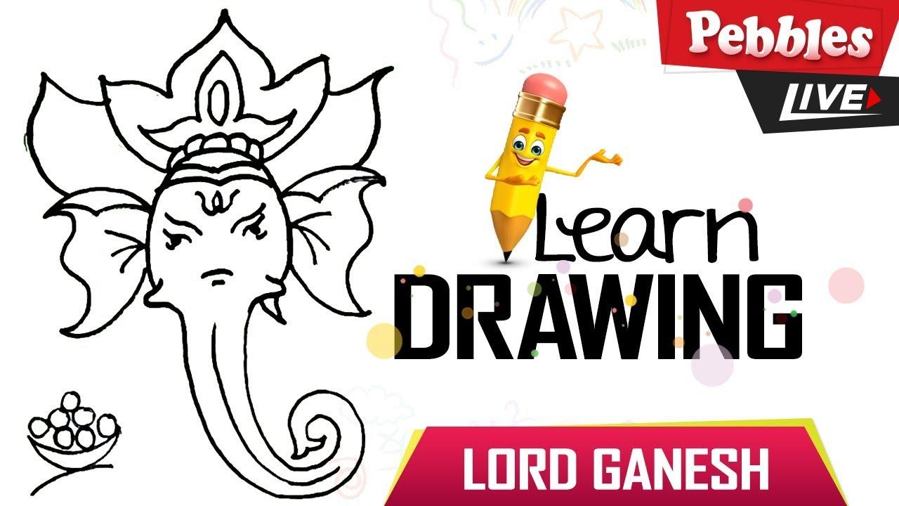How to draw ganesha drawing for kids vinayaka vinayagar drawing ganesh chaturthi special