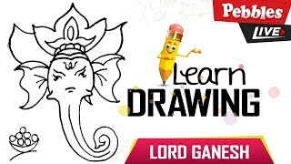 How to Draw Ganesha drawing for kids | vinayaka - Vinayagar Drawing | Ganesh Chaturthi Special