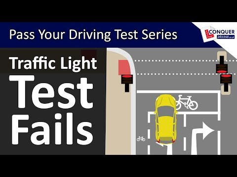 Traffic Light Driving Lesson with Common Driving Test Fails