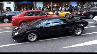 渋谷を走る、ランボルギーニ・カウンタック5000QV。 【Related video】 ...
