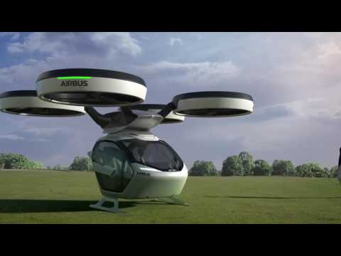 Pop.Up modular autonomous car / drone hybrid concept by Airbus and Italdesign