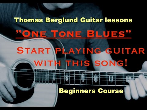 "One Tone Blues - ""Play Guitar"" Beginners course - Guitar lessons"