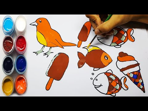 How to draw   Drawing Birds   Step by Step Drawing   5 minutes crafts & toys