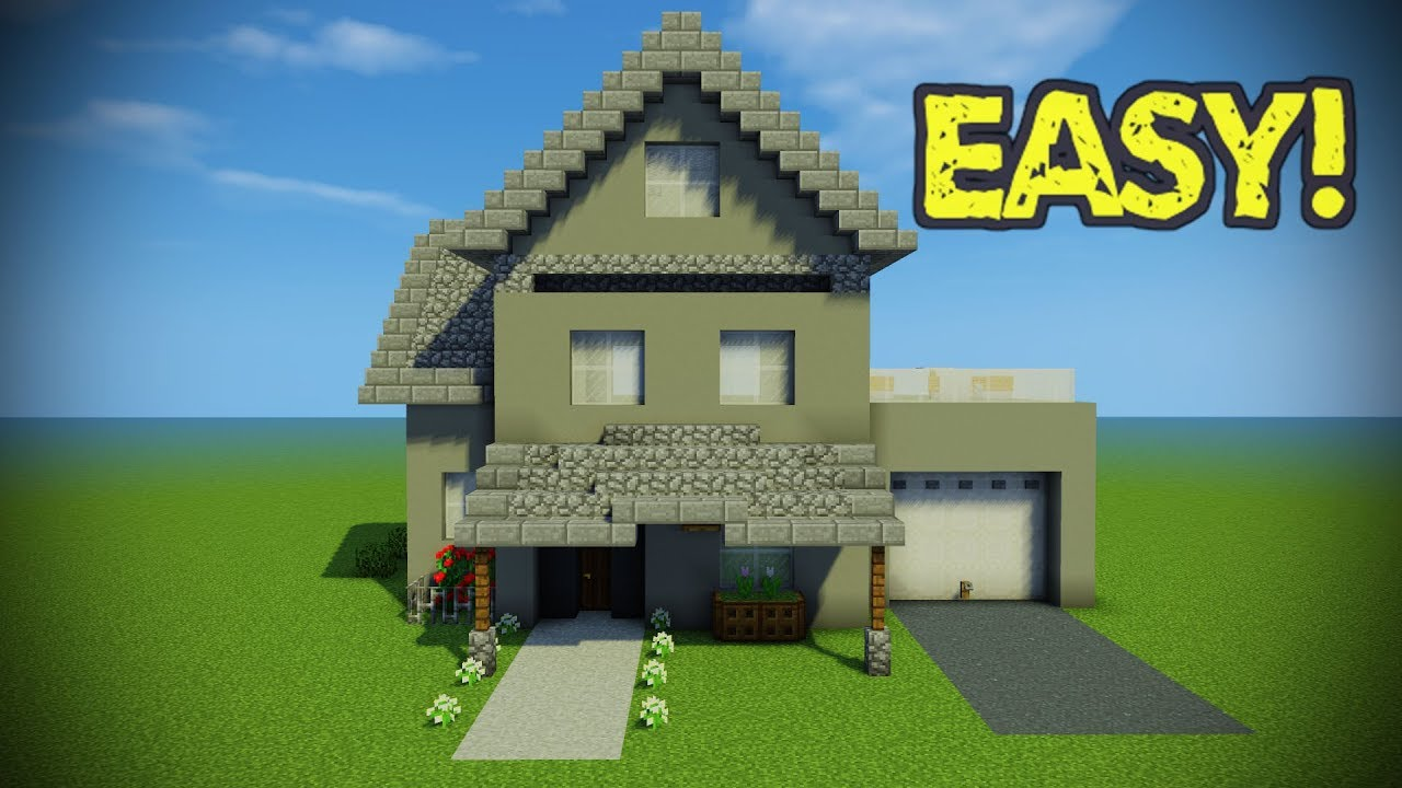 Minecraft Suburban House How To Make A