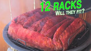 12 racks of ribs on the Weber Summit Charcoal Grill at once time Smoked baby back ribs