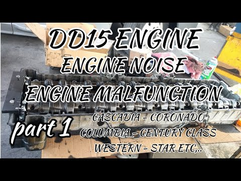 Freightliner Cascadia DD15 engine malfunction engine noise cam housing  problem engine timing part 1