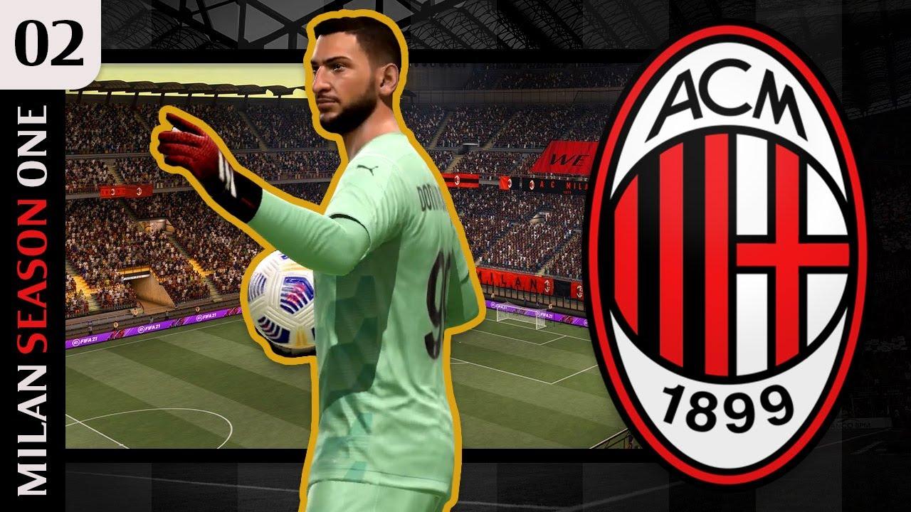 Sensational Donnarumma Fifa 21 Ac Milan Career Mode S1e2 Youtube