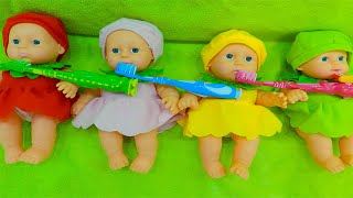 Are you Sleeping Brother John with Baby Dolls + More Children Songs by Kids Liza